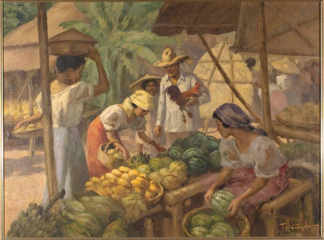 """Fruit Vendor"" by Fernando Amorsolo, Filipino Painter and"