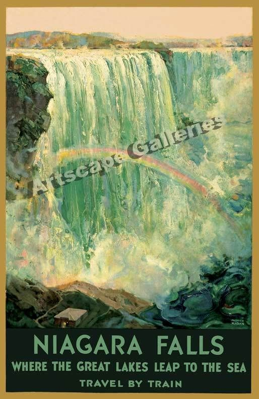 Niagara Falls Vintage Style Travel Poster 16x24 in Posters | eBay