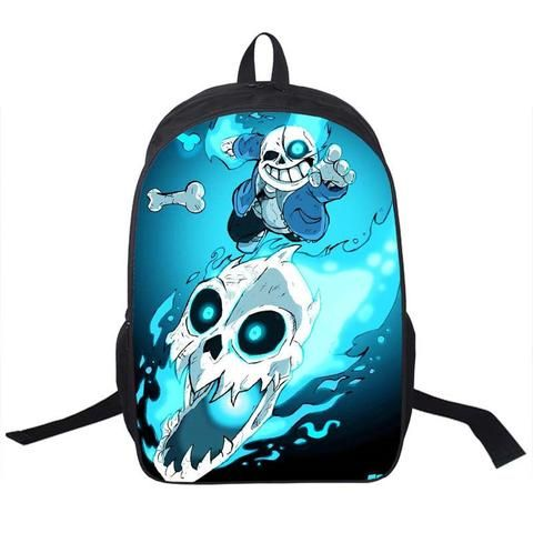 Undertale Printing Backpack Boys Girls School Bags Young Men Women Daily Children Bookbag Shoulder Backpacks