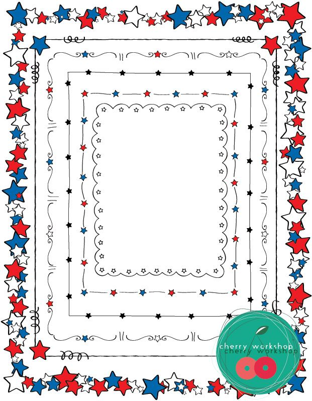 4th of july photo borders