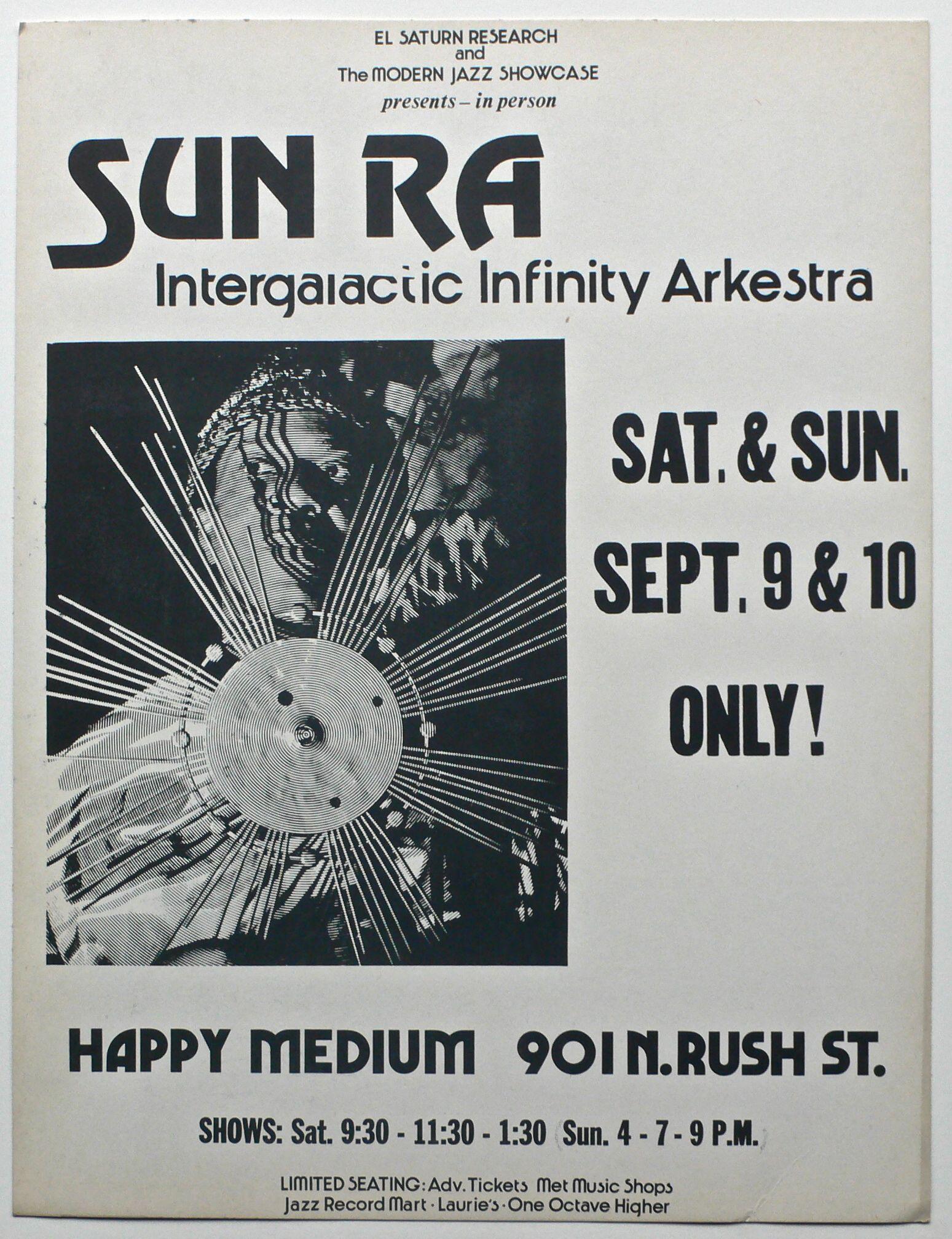 Sun Ra - 1978 Chicago Boxing-Style Concert Poster / El Saturn | Recordmecca