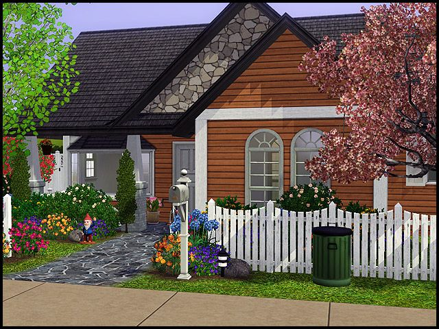 Random Homes Sims House Sims House Design Sims Building