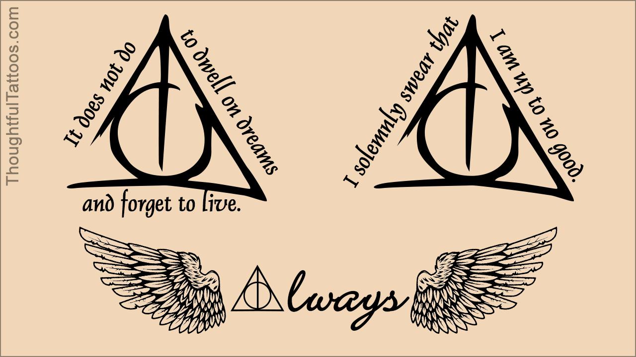 Deathly Hallows Tattoos Harry Potter Tattoos Cool Tattoos Hedwig Tattoo