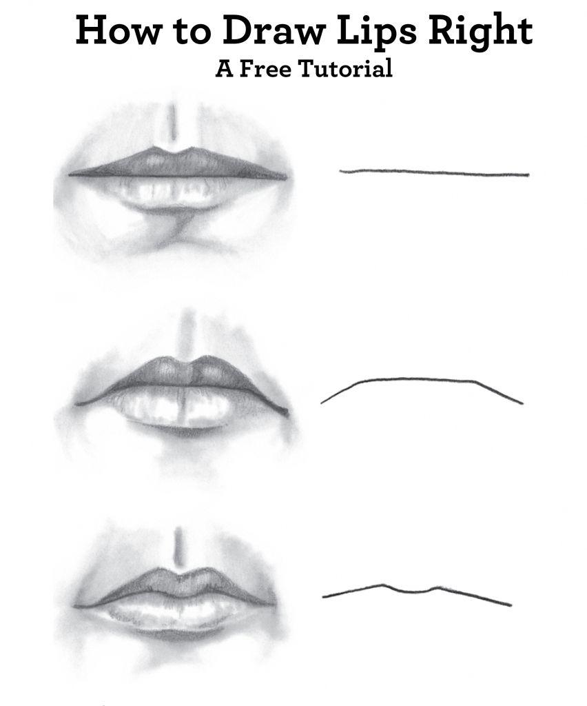 Drawing Pencil Guide Lip Drawing Pencil Tutorial Drawing Artisan ...