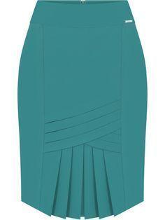 Falda Turqueza Con Pliegues F I Faldas Bonitas Faldas Elegantes Faldas Modernas