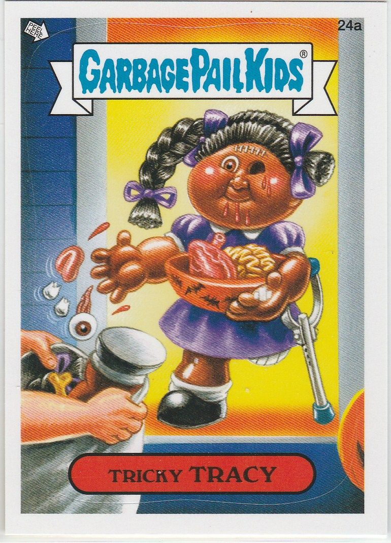 2012 Topps Garbage Pail Kids Tricky Tracy 24a Garbage Pail Kids Cards Garbage Pail Kids Garbage