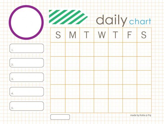 blank printable daily chore charts