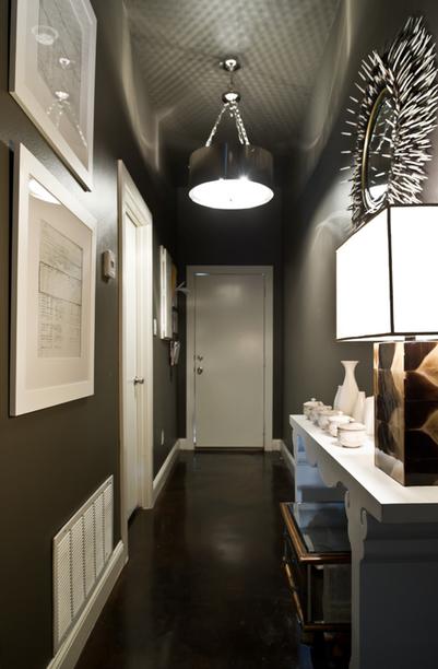 couloir peint en gris | Maison | Pinterest | Corridor, Hall and Salons