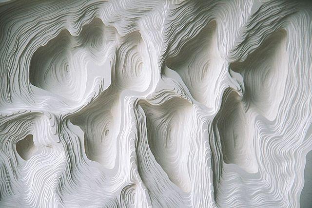 Topographic paper landscapes, Noriko Ambe.