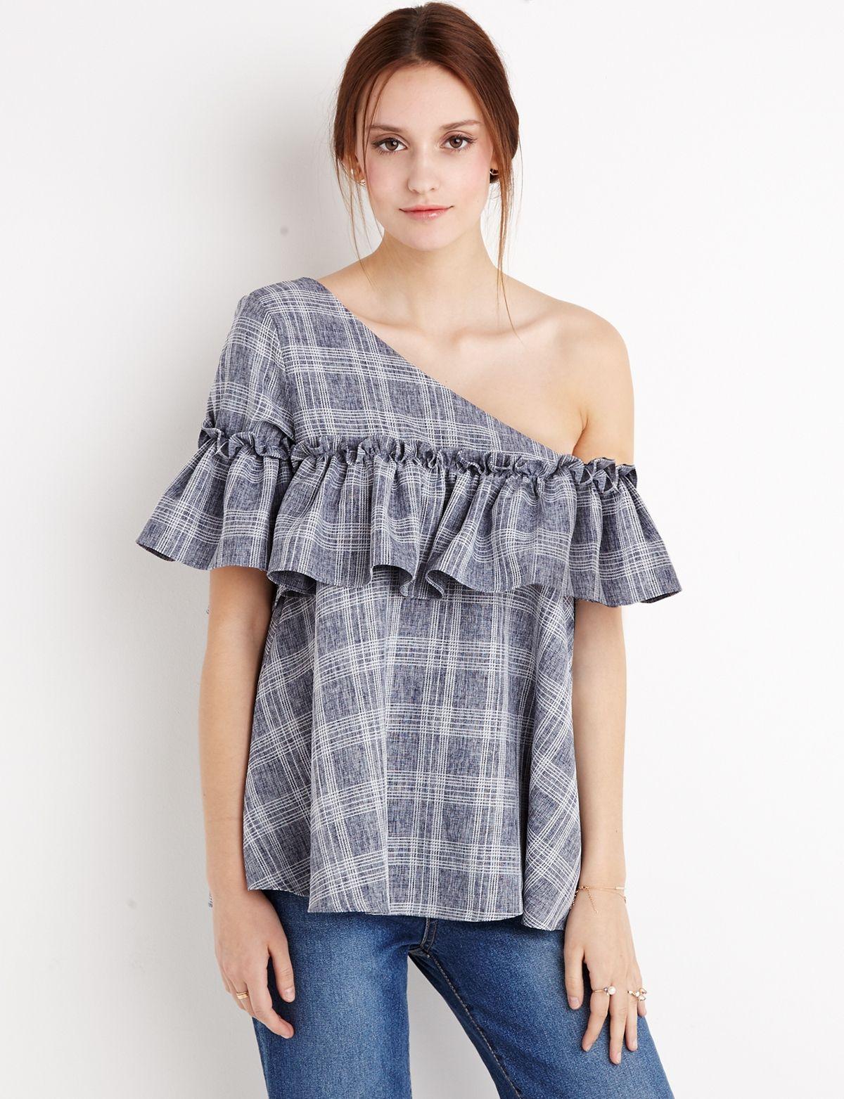 one shoulder tops