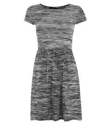 Black Space Dye T-Shirt Dress