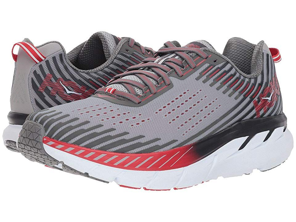 Men/'s Hoka One One Clifton 5 Running Athletic Shoes Alloy Steel Gray