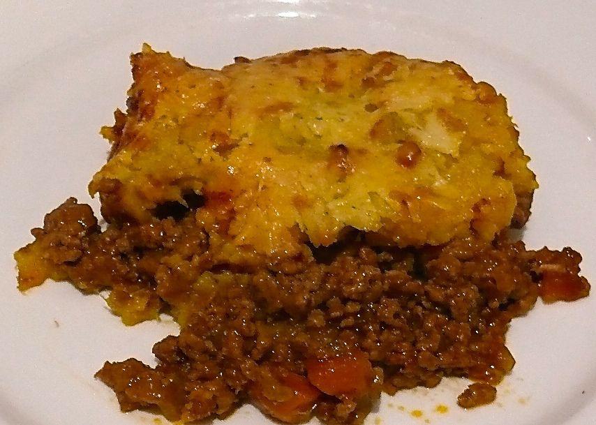 Shepherds Pie with Cheesy Sweet Potato topping