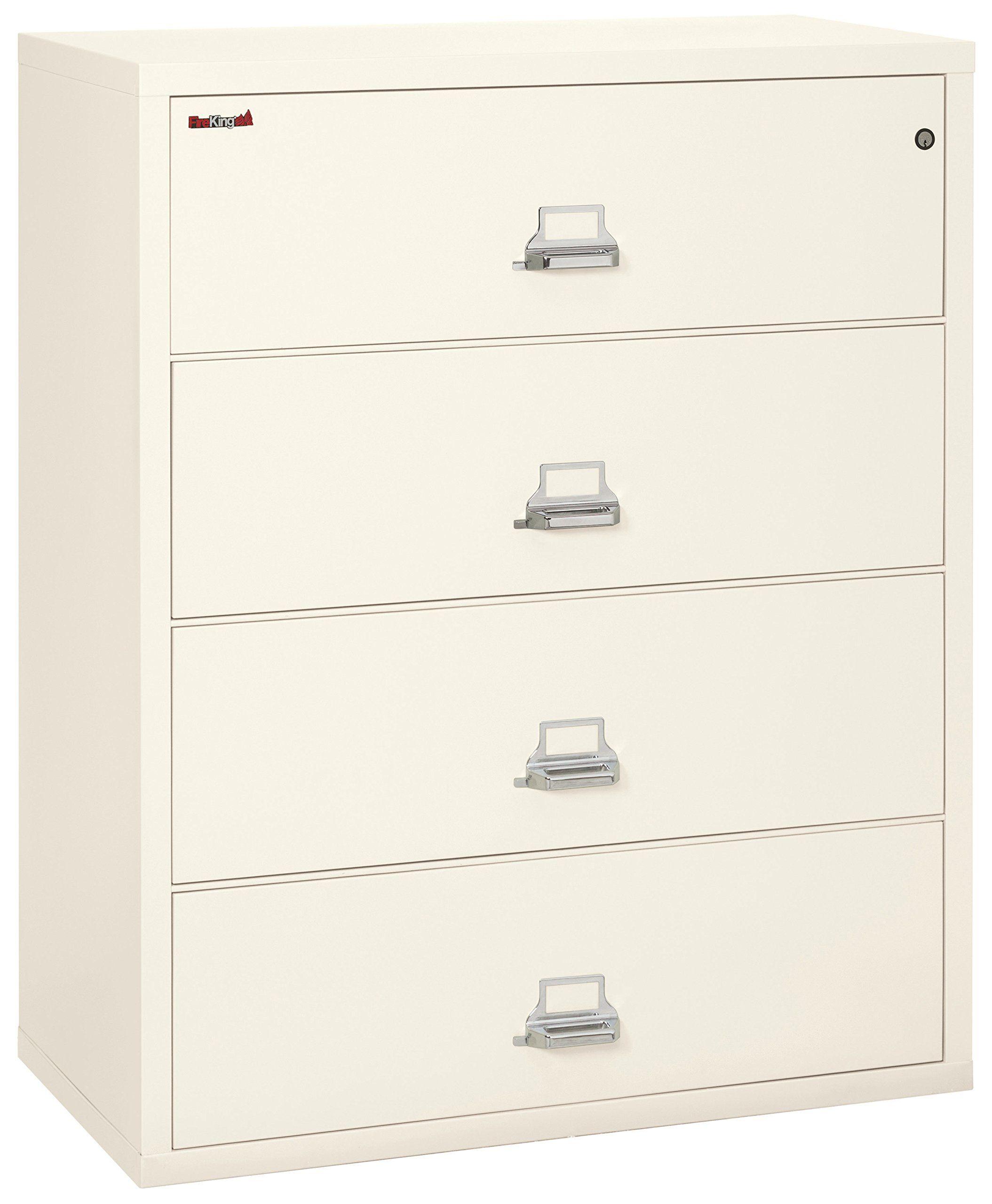 Fireking Fireproof Lateral File Cabinet 4 Drawers Impact Resistant Waterproof 44