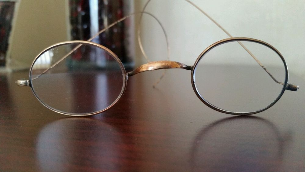 ANTIQUE WIRE RIMMED DR. HAUX $5 - CHILD'S PRESCRIPTION or READING EYEGLASSES in Clothing, Shoes & Accessories | eBay
