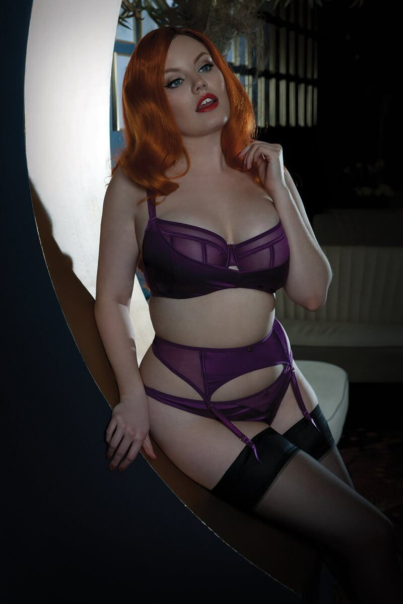 0a6b7868b08cb Scantilly by Curvy Kate. Full bust redhead model in purple lingerie ...