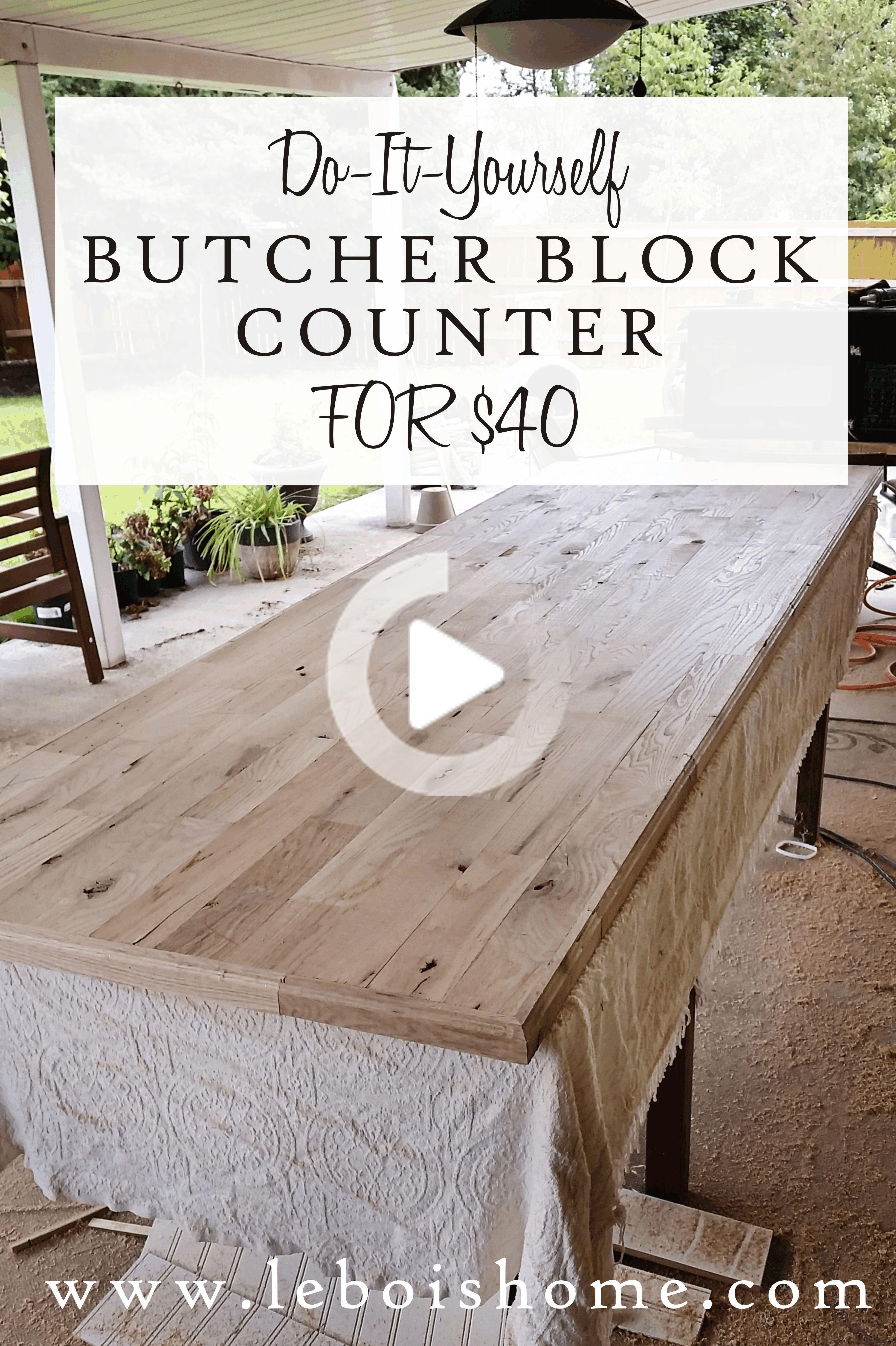 Fai Da Te Butcher Block Controsoffitto In 2020 Butcher Block Counter Diy Butcher Block Counter Butcher Block Countertops