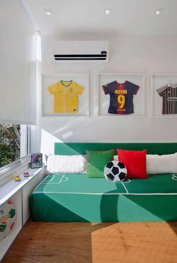 Habitaciones para ni os decoradas con tema de futbol for Decoracion habitacion juvenil nino
