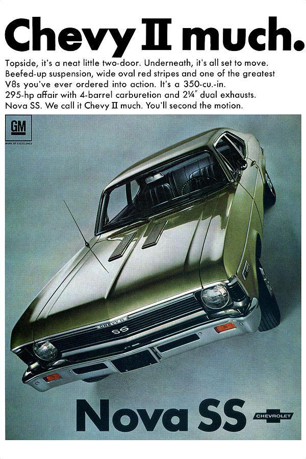 1968 Chevy Nova SS   Muscle Car Ads   Pinterest   Chevy nova, Ss and ...