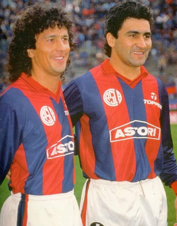 Néstor Gorosito y Alberto Acosta San Lorenzo de Almagro   Futbol ...