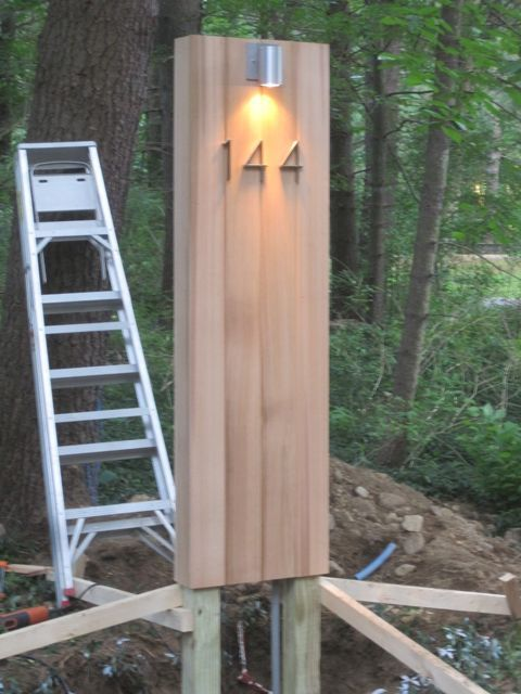 The Monolith Driveway Address Marker Light Driveway Lighting
