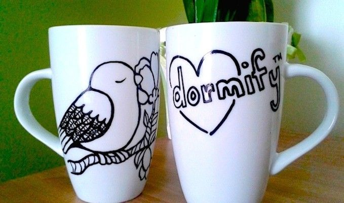 Do it yourself diy by dormify pinterest diy design sharpie you can design your own coffee mug for only a few dollars all it takes solutioingenieria Image collections