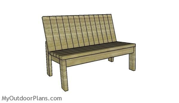 2 4 Garden Bench Plans With Images Outdoor Furniture Plans