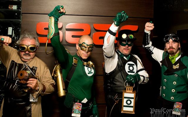 Steampunk Green Lantern Corp by Paul Cory, via Flickr