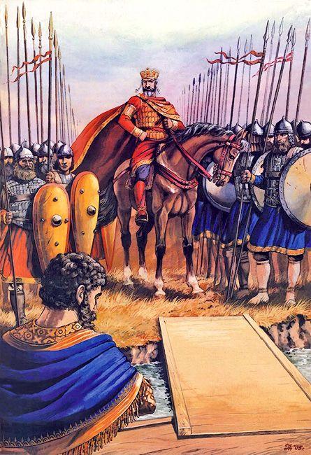 """A meeting of Roman Emperor Lakapin with King Simeon, 924"""" La Pintura y la Guerra. Sursumkorda in memoriam"""