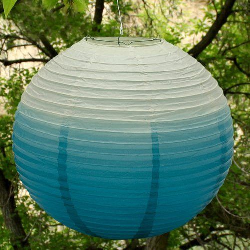 Ombre Round Paper Lantern by Beau-coup