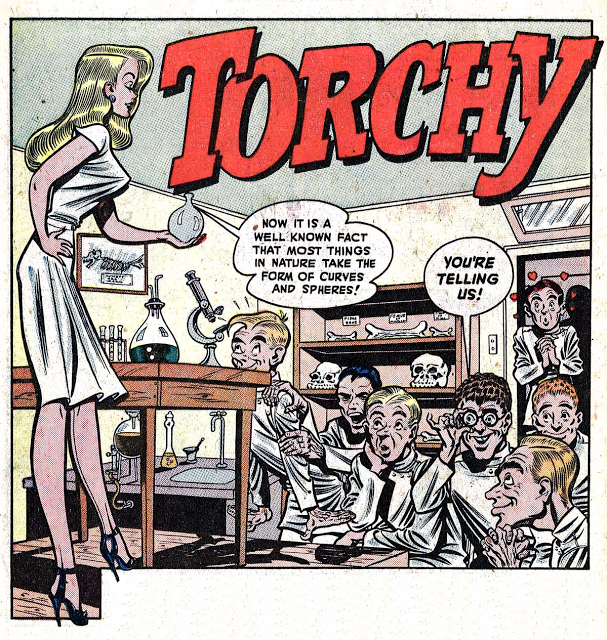 Torchy and her curves and spheres  Torchy and her curves and spheres  comic books comics