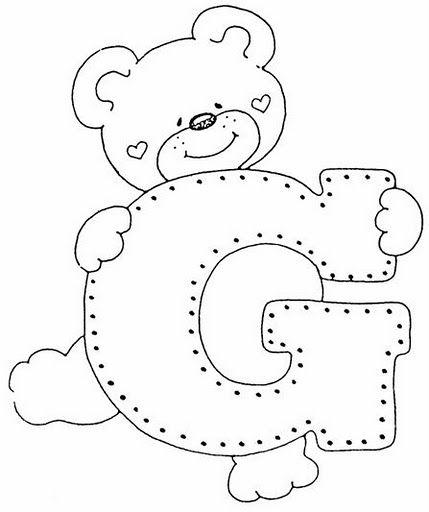 7. la letra G. | consonantes | Pinterest | Las letras, Letras y Molde
