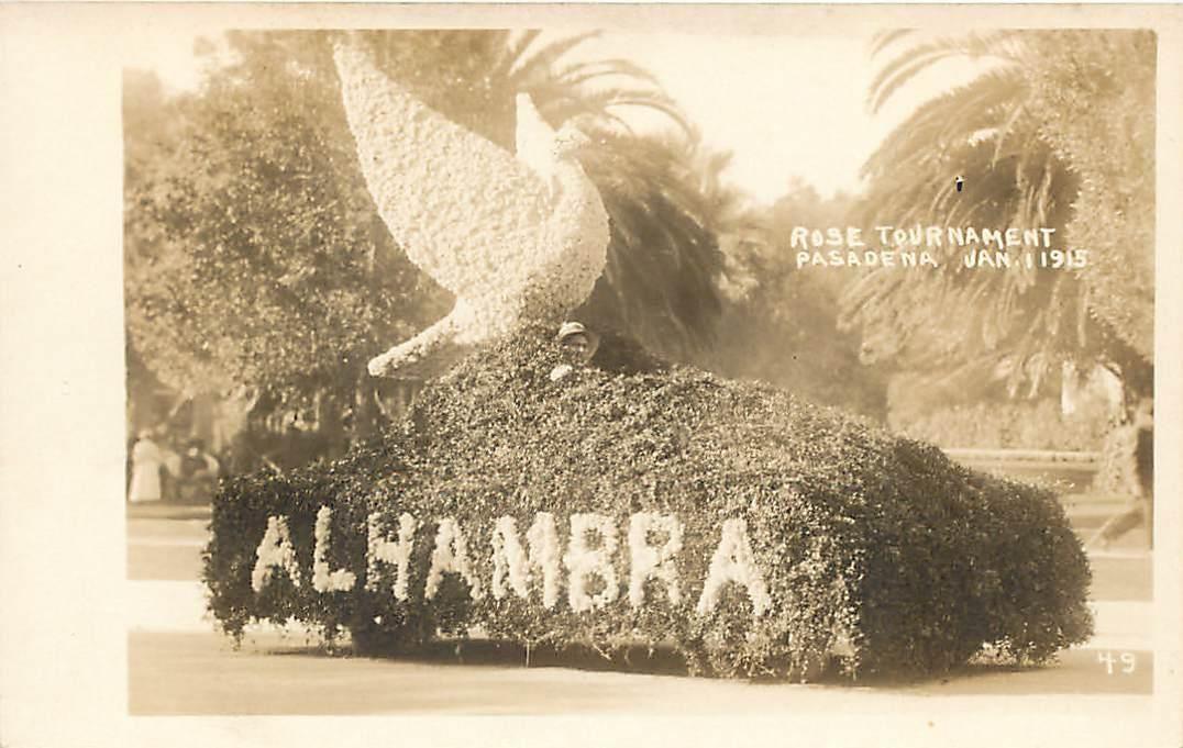 Alhambra entry Rose Parade 1915