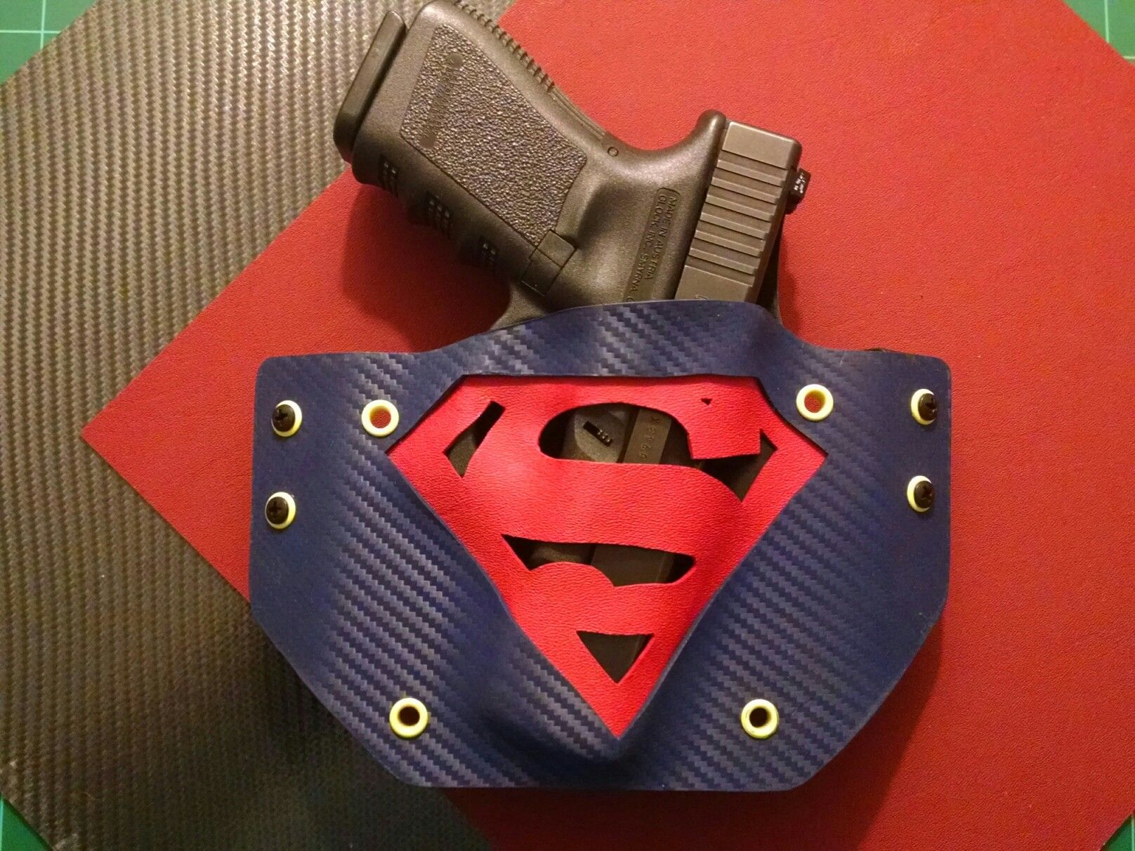 Custom Kydex Holster with Superman cut-out  | Holsters