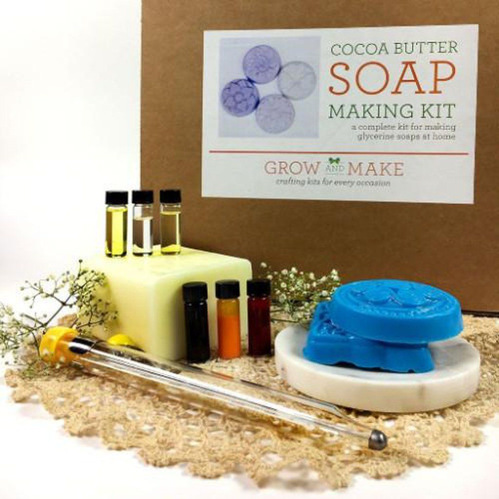 Deluxe diy cocoa butter soap making kit learn how to