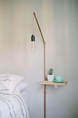 l id e d co du dimanche une applique de chevet avec des tuyaux de plomberie diy. Black Bedroom Furniture Sets. Home Design Ideas