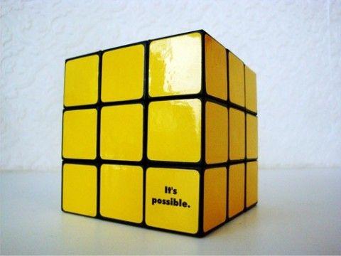 Yellow Rubiks Cube. Nice Design