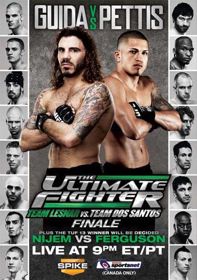 The Ultimate Fighter 13 Team Lesnar Vs Team Dos Santos Finale Ufc Events Ufc Poster Ufc