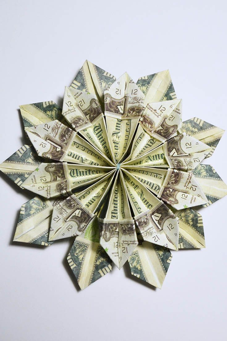 Its A Very Beautiful Money Origami Flower You Can Use Real Money