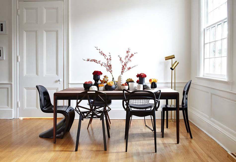 Les chaises dépareillées qui égayent l\u0027ambiance de la salle à manger - Salle A Manger Parquet