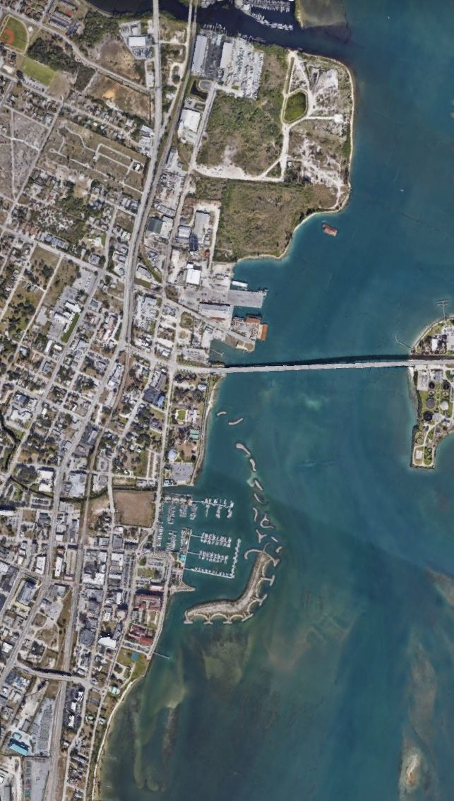 Satelital. From the Air. Fort Pierce,Florida
