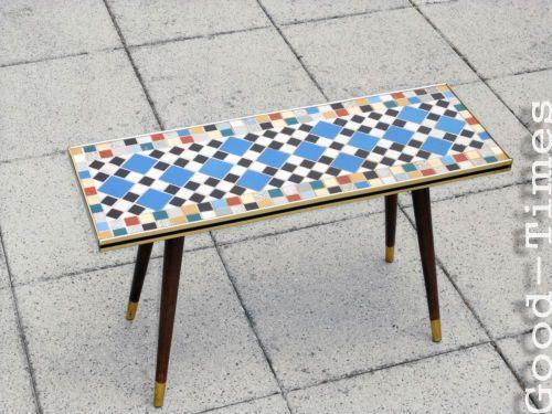 BOUGHT 50s-Tisch-original-50er-Jahre-Couchtisch-Beischtelltisch-Blumenbank-Top-Mosaik