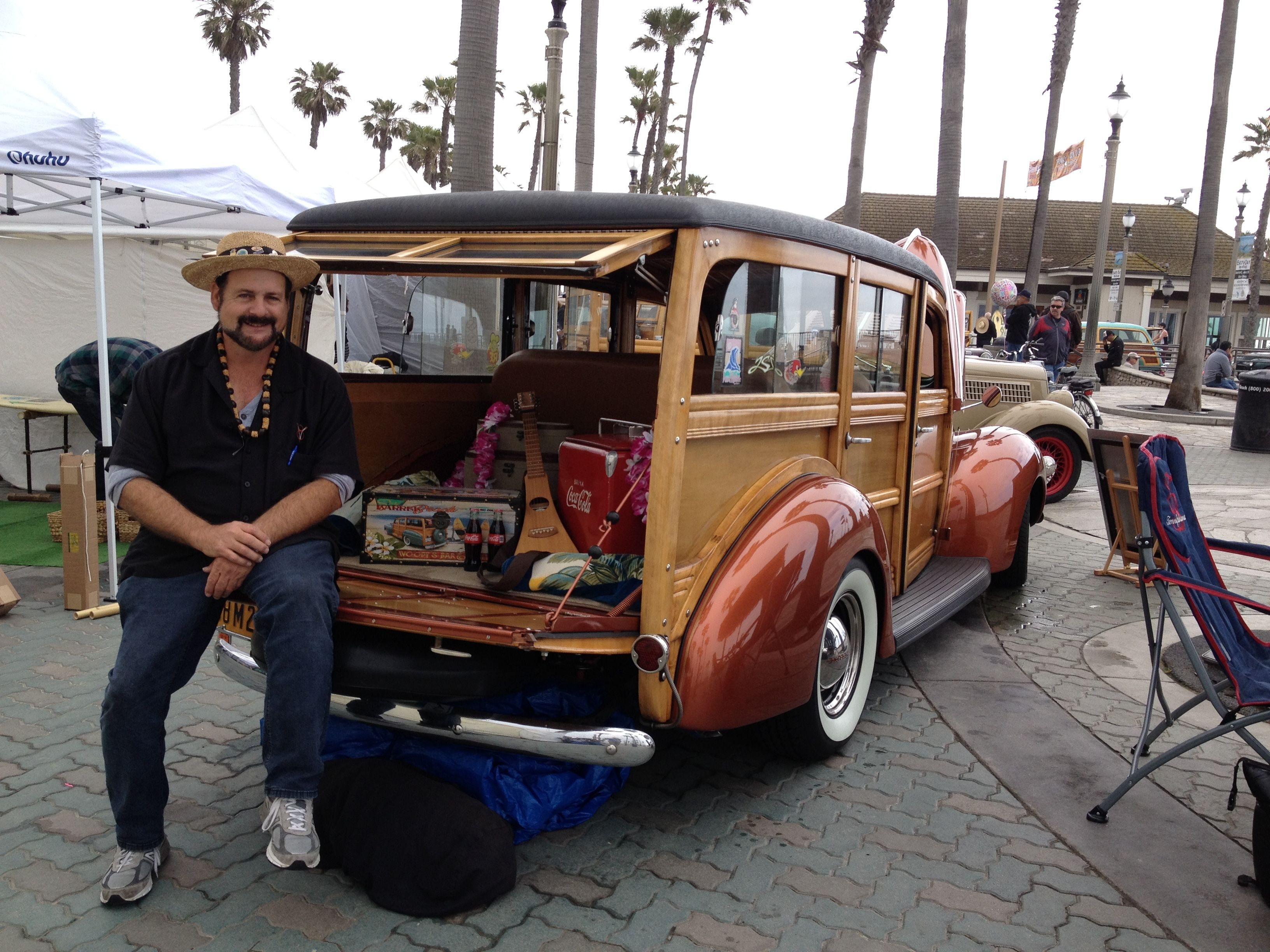 Greg and Shelly s 1940 Ford Deluxe Huntington Beach Pier Plaza Art a