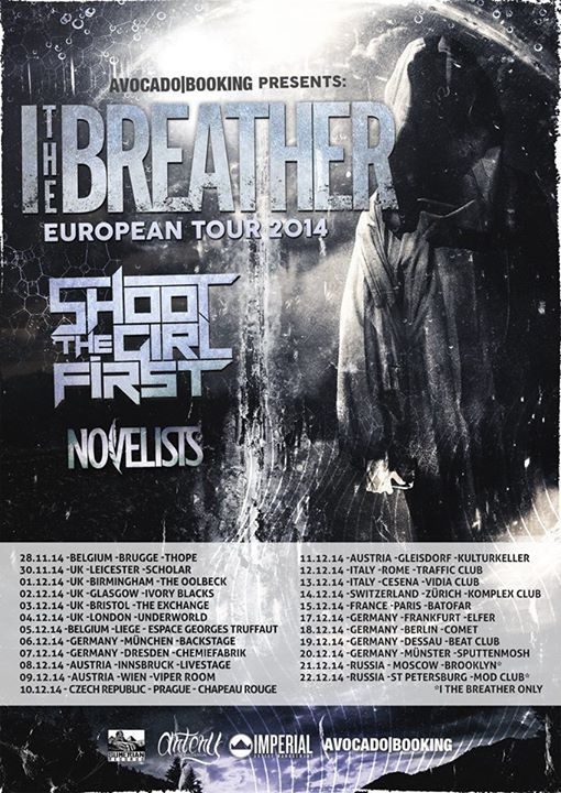 NEWS: The metal band, I, The Breather, has announced a fall European headline tour with special guests, Shoot The Girl First and Novelists. These shows will be in support of their new album, Life Reaper. You can check out the dates and details at http://digtb.us/1CcR1xE