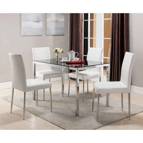 30 X 48 200 Found It At Wayfair Rectangle Dining Table Dining Table In Kitchen Rectangle Dining Table White Dining Chairs