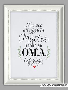 """Originaldruck - """"MAMA und OMA"""" Kunstdruck, Muttertag ... - ein Designerstück von Smart-Art-Kunstdrucke bei DaWanda"""