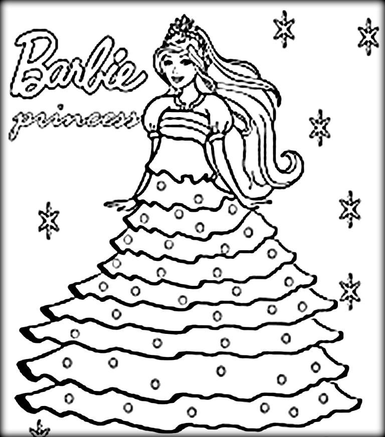 barbie coloring pages cute barbie coloring pages for girls downloads - Barbie Coloring Page