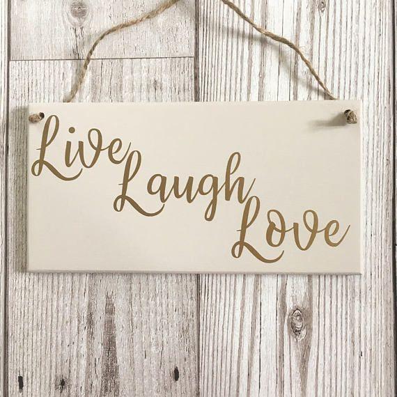 Love Plaques Quotes Delectable Live Laugh Love Plaque Quote Plaque Live Laugh Love Sign  Etsy Uk