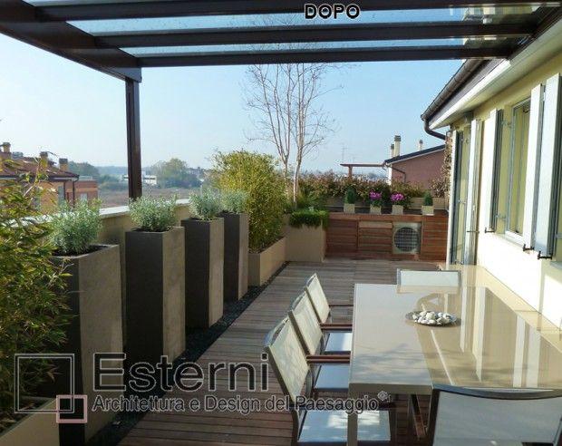 copertura in vetro per terrazzi | Struttura terrazzo | Pinterest ...