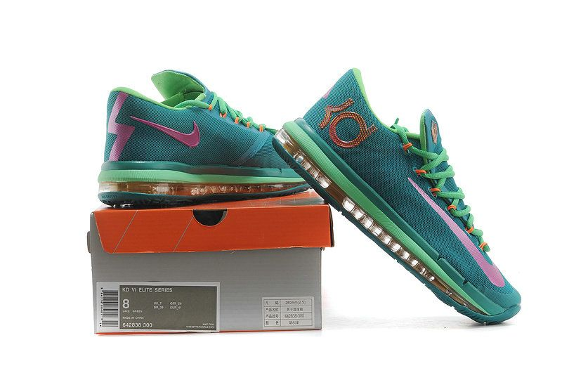 new style 262d8 d3593 KD 6 Elite Turbo Green 642838 300